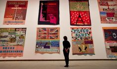Appliqued Blankets by  Tracey Emin, installed in the show Love Is What You Want at London's Hayward gallery. Photograph: David Levene for th...