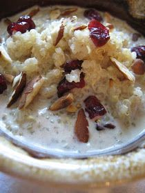 Lisa's Vegetarian Kitchen: Breakfast Quinoa Porridge