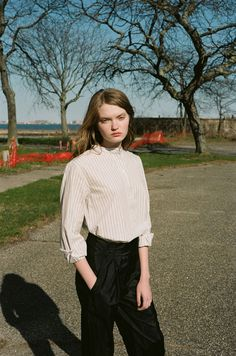 La Garçonne Fashion Story: Drawing Lines | Photography by Morgan Howland, Styling by Sarah Levett. Model Abby, IMG