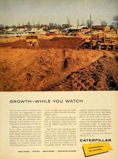 1956 Ad Caterpillar Construction Tractor Machinery pin by réseau Estp Eyrolles for http://ift.tt/2gUqHTb