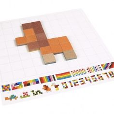 Wood Tile Pattern Matching Game | greenmomguide.com Wood Tile Pattern, Tile Patterns, Wood Kids Toys, Plan Toys, Pattern Matching, Matching Games, Pixel Art, Hand Carved, Carving