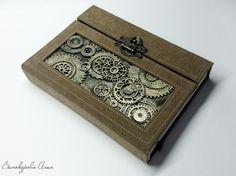 "Magic-box.: Блокнот в стимпанк-стиле ""Шестеренки"""