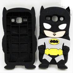 3D Cartoon Super Hero Batman Soft Silicone Back Cover Phone Case For Samsung Galaxy J1 Cute Cartoon Cases