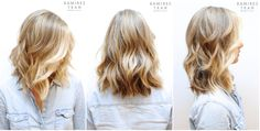 natural looking beige blonde base with bright buttery blonde highlights