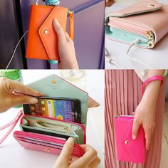 Womens Crown Smart Pouch Wallet Coin Purse Clutch Envelope Case for iphone 4 5 #UnbrandedGeneric