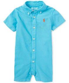 2adea83760b3 Ralph Lauren Baby Boys  Button-Up Oxford Shortall Kids - All Baby - Macy s