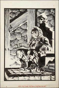 Eerie January Frontispiece illustration by Bernie Wrightson. Bd Comics, Horror Comics, Horror Art, Comic Book Artists, Comic Artist, Comic Books Art, Ink Illustrations, Illustration Art, Bernie Wrightson