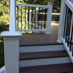 Pergola Attached To House Plans Referral: 2837959603 Deck Steps, Porch Steps, Front Steps, Deck With Pergola, Pergola Plans, Pergola Ideas, Patio Ideas, Landscaping Ideas, Pergola Cover