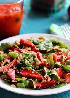 Akshayapaatram: Summer Spinach, Strawberry & Quinoa Salad