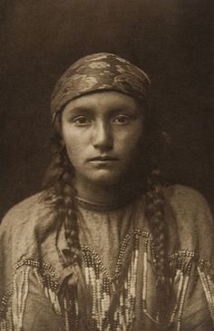 Kutenai Maiden (The North American Indian, v. VII. Norwood, MA: The Plimpton Press, 1911)   by Edward Sheriff Curtis from USC Digital Library