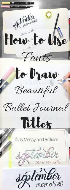 bullet journal lettering, bullet journal fonts