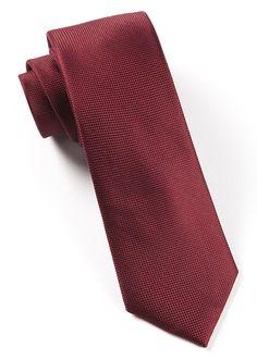 Burgundy Slim Solid Tie