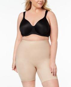 68da2ab613cfb Spanx Women s Plus Size Power Conceal-Hef Mid-Thigh Short 10131P -  Tan Beige 1X