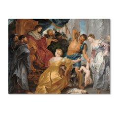 Trademark Fine Art 'The Judgement Of Solomon' Canvas Art by Peter Paul Rubens, Size: 35 x 47, Multicolor