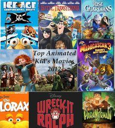 Top 10 animated kids movies 2012 countdown via KidsFunReview