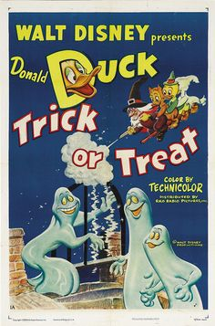 Theatrical poster of Donald Duck in Trick or Treat.