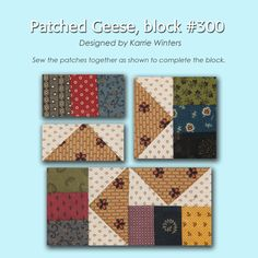 100 Blocks Sampler Sew Along Block 39