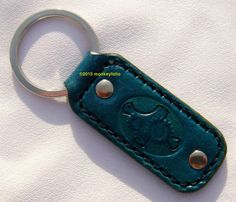 Leather Key Ring / Key Fob - Steampunk - Turquoise Leather Keyring, Handmade Leather, Key Rings, Steampunk, Turquoise, Personalized Items, Unique Jewelry, Handmade Gifts, Bracelets
