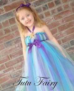 Little Mermaid Inspired Tutu Dress. 3 piece Set. Wonderful Birthday and Picture Outfit.. $50.00, via Etsy.