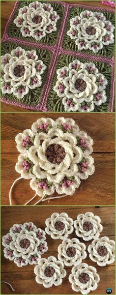 Crochet Tropical Delight Square Free Pattern - Crochet Granny Square Free Patterns