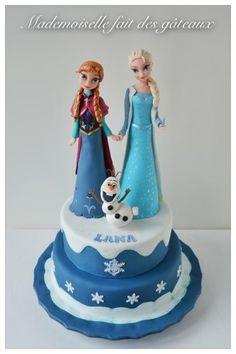 """Gâteau Reine des neiges, """"Frozen"""""""