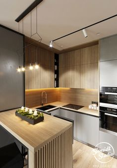 Rustic kitchen: 70 photos and decoration models to check - Home Fashion Trend Kitchen Room Design, Kitchen Cabinet Design, Modern Kitchen Design, Home Decor Kitchen, Rustic Kitchen, Interior Design Kitchen, Kitchen Furniture, Home Kitchens, Small Modern Kitchens
