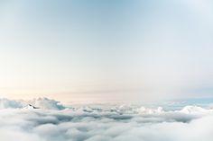 Imágenes de dominio público - nubes del cielo azul de la montaña