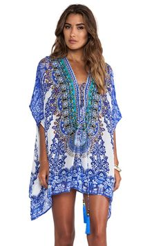 Short Lace Up Kaftan - REVOLVEclothing