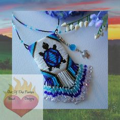 Bead PATTERN Turtle Totem Amulet Bag Loom or Square Stitch. $6.50, via Etsy.