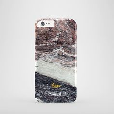 """""""Sober"""" / feature with Gorgeous plum & dark grey marble stone printed iPhone cover. #marble #case #paletto"""