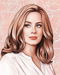 Adele Vector Portrait, Digital Portrait, Portrait Art, Portrait Illustration, Digital Illustration, Adele Grammys, Adele Music, Adele Adkins, Good Morning Girls