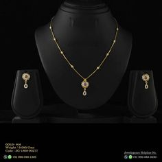 No photo description available. Simple Necklace Designs, Gold Necklace Simple, Gold Jewelry Simple, South Indian Bridal Jewellery, Bridal Jewelry, Gold Mangalsutra Designs, Gold Chain Design, Gold Rings Jewelry, Gold Set
