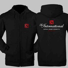 O Internacional dota 2 hoodie para homens XXXL moletom com capuz zip