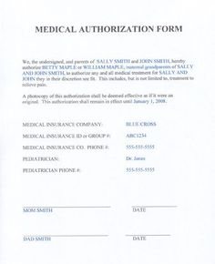 Medical Consent Form Template Sample Medical Consent Form Printable Medical  Forms Letters, Child Medical Consent Form Templates 6 Samples For Word, ...
