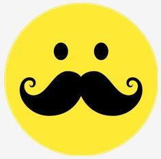 Mustache Smiley face!                                                                                                                                                                                 More