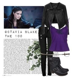 """""""Octavia Blake"""" by fulltimeoverthinker ❤ liked on Polyvore featuring Balmain, Linea Pelle, Ermanno Scervino and Frye"""