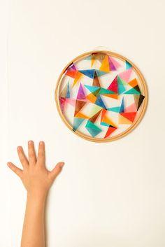 Embroidery hoop sun-catcher.