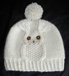 Knitting Patterns Hat Owl cap, hat with owl motif, head circumference 50 - 56 cm, knitting instructions - knitting instructions at M .Mit dieser Eulenmütze liegen Sie voll im Trend. In nur 45 RundenThis Pin was discovered by Hon Owl Knitting Pattern, Beanie Pattern Free, Knitting Patterns Free, Free Knitting, Crochet Patterns, Knitted Owl, Knitted Hats, Crochet Baby, Knit Crochet