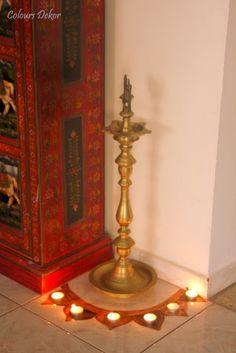 Simple Floor Decor on Diwali