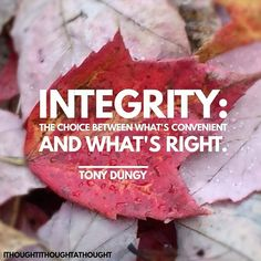 Integrity #integrity #TonyDungy #choice #right #dotherightthing #ithoughtithoughtathought