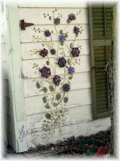 Faucet handles painted flowers