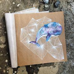 Sketchbook page by _marzipann_ on Instagram Может ещё кита? у меня уже небольшая…