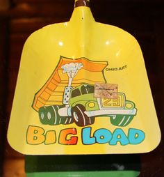 Vintage 60s Toy Shovel/ Ohio Art / Tin Toy /