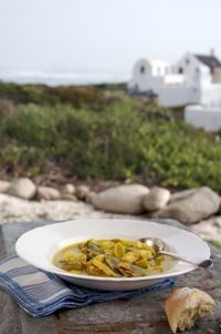 Fish and mussel soup in Jacobsbaai, Western Cape from Food from the heart. Courtesy of Lapa Publishers, photo by Adriaan Vorster South African Recipes, Mussels, Cape, Soup, Beef, Fish, Heart, Mantle, Meat