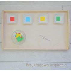 Taca drewniana, chwyt pensetowy, aktywność dla maluchów, inspirowane Montessori.
