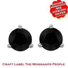 "5/9 Ct Genuine Moissanite 14K Gold Stud Earrings ""Mother\'s Day Gift"". Starting at $99"