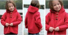 darling knitted hooded jacket | the knitting space