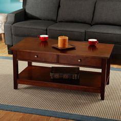 Simple Living Bradford Chestnut Finish Coffee Table - Overstock™ Shopping - Great Deals on Simple Living Coffee, Sofa & End Tables - 119.99