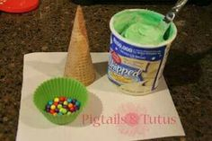 Quick activity...kids decorate an ice cream cone to make a Christmas tree [image only]