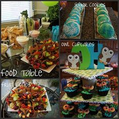 An owl themed baby shower